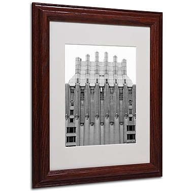 Miguel Paredes 'Building I' Matted Framed Art - 11x14 Inches - Wood Frame
