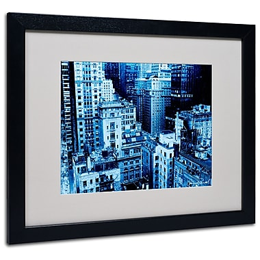 Trademark Fine Art Miguel Paredes 'Upper West Side' Matted Art Black Frame 16x20 Inches