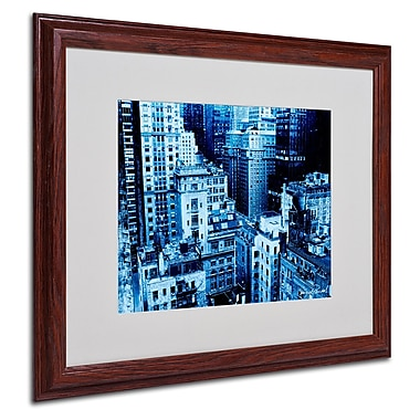 Miguel Paredes 'Upper West Side' Matted Framed Art - 16x20 Inches - Wood Frame