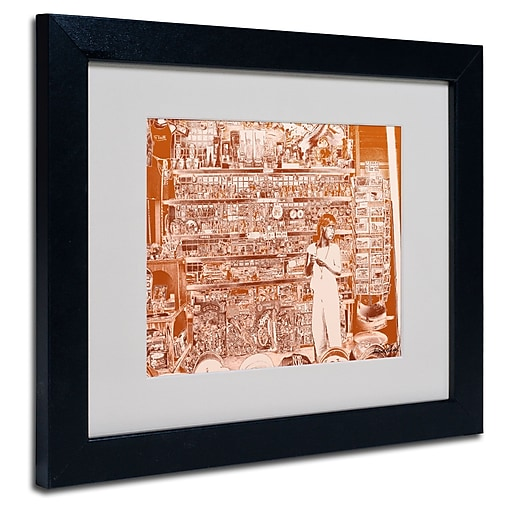 Trademark Fine Art Miguel Paredes 'Lil Italy III' Matted Art Black Frame 11x14 Inches