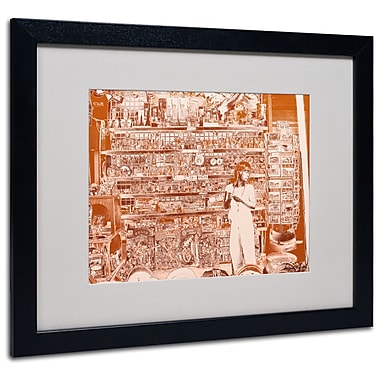 Trademark Fine Art Miguel Paredes 'Lil Italy III' Matted Art Black Frame 16x20 Inches