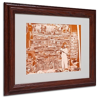Miguel Paredes 'Lil Italy III' Matted Framed Art - 11x14 Inches - Wood Frame