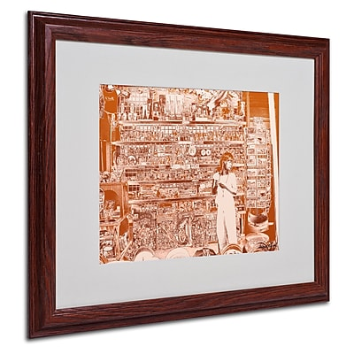Miguel Paredes 'Lil Italy III' Matted Framed Art - 16x20 Inches - Wood Frame