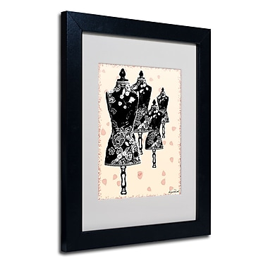 Trademark Fine Art Miguel Paredes 'Tapestry I' Matted Art Black Frame 11x14 Inches
