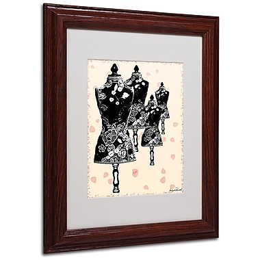 Miguel Paredes 'Tapestry I' Matted Framed Art - 11x14 Inches - Wood Frame