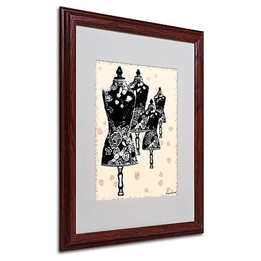 Miguel Paredes 'Tapestry I' Matted Framed Art - 16x20 Inches - Wood Frame