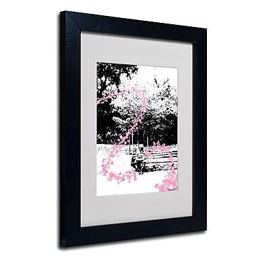 Trademark Fine Art Miguel Paredes 'Pink Butterflies' Matted Art Black Frame 11x14 Inches