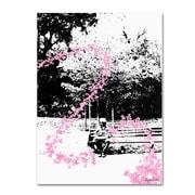 Trademark Fine Art Miguel Paredes 'Pink Butterflies' Canvas Art