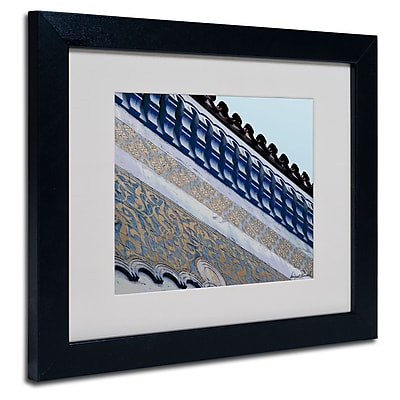 Trademark Fine Art Miguel Paredes 'Rooftop' Matted Art Black Frame 11x14 Inches