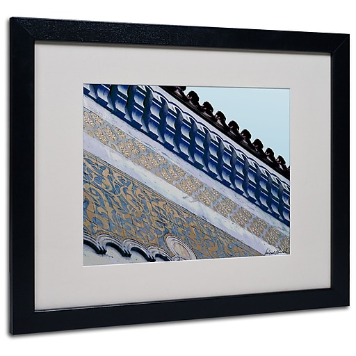 Trademark Fine Art Miguel Paredes 'Rooftop' Matted Art Black Frame 16x20 Inches