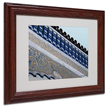 Miguel Paredes 'Rooftop' Matted Framed Art - 11x14 Inches - Wood Frame