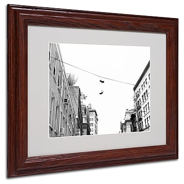 Miguel Paredes 'Lil Italy' Matted Framed Art - 11x14 Inches - Wood Frame