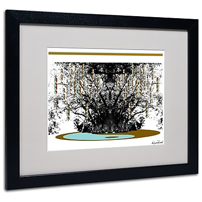 Trademark Fine Art Miguel Paredes 'Budda' Matted Art Black Frame 16x20 Inches