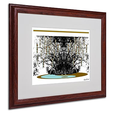Miguel Paredes 'Budda' Matted Framed Art - 16x20 Inches - Wood Frame