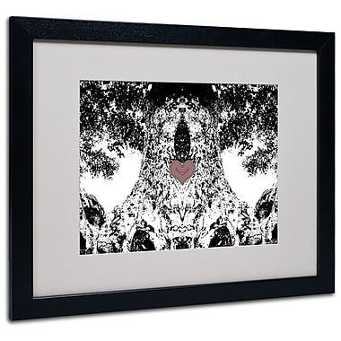 Trademark Fine Art Miguel Paredes 'Heart I' Matted Art Black Frame 16x20 Inches