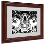 Miguel Paredes 'Heart I' Matted Framed Art - 11x14 Inches - Wood Frame