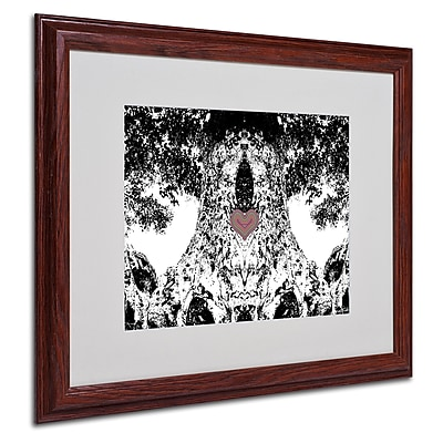 Miguel Paredes 'Heart I' Matted Framed Art - 16x20 Inches - Wood Frame