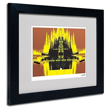 Trademark Fine Art Miguel Paredes 'Yellow Trees' Matted Art Black Frame 11x14 Inches