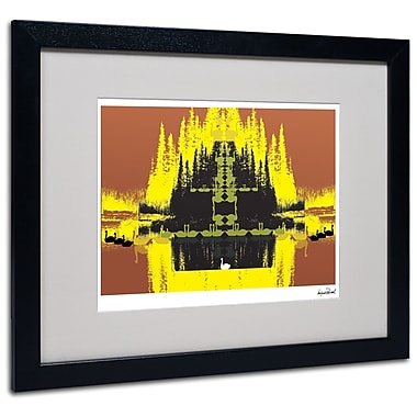 Trademark Fine Art Miguel Paredes 'Yellow Trees' Matted Art Black Frame 16x20 Inches