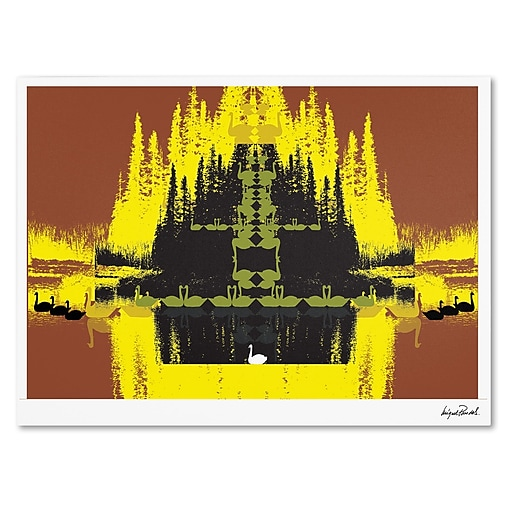 Trademark Fine Art Miguel Paredes 'Yellow Trees' Canvas Art 22x32 Inches