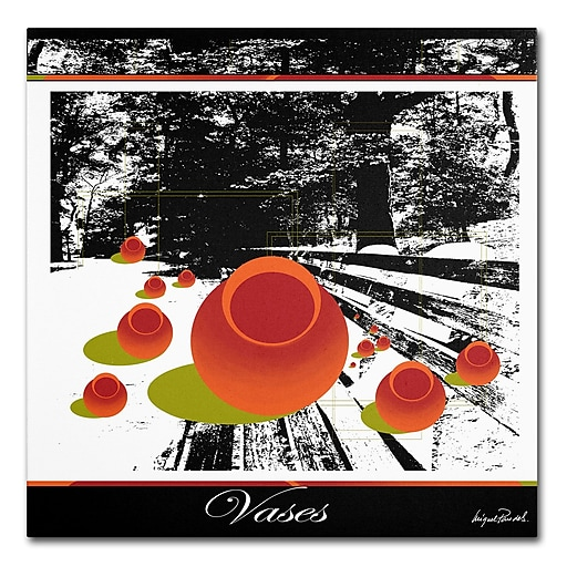 Trademark Fine Art Miguel Paredes 'Clay Vases' Canvas Art 35x35 Inches
