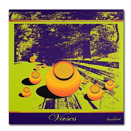 Trademark Fine Art Miguel Paredes 'Green Vases' Canvas Art 14x14 Inches