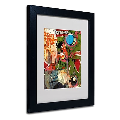 Trademark Fine Art Miguel Paredes 'Urban Collage I' Matted Art Black Frame 11x14 Inches