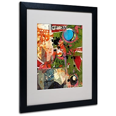 Trademark Fine Art Miguel Paredes 'Urban Collage I' Matted Art Black Frame 16x20 Inches