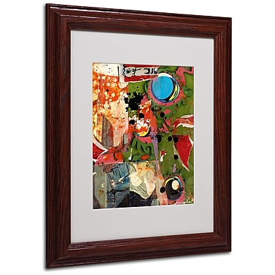 Miguel Paredes 'Urban Collage I' Matted Framed Art - 11x14 Inches - Wood Frame