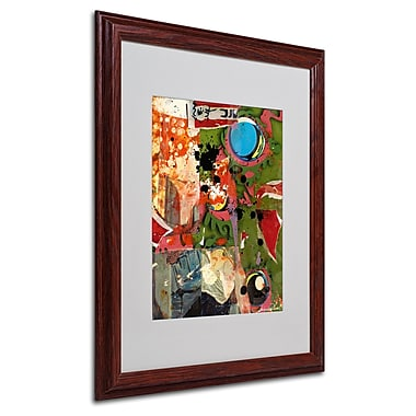 Miguel Paredes 'Urban Collage I' Matted Framed Art - 16x20 Inches - Wood Frame