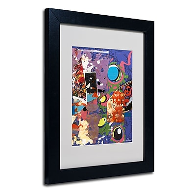 Trademark Fine Art Miguel Paredes 'Urban Collage II' Matted Art Black Frame 11x14 Inches