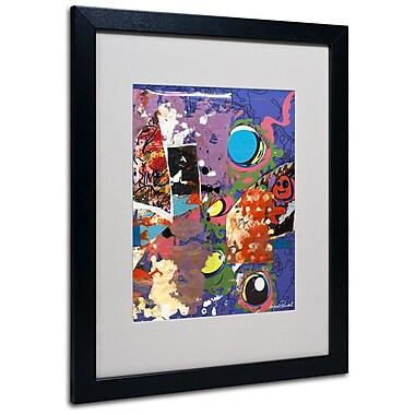 Trademark Fine Art Miguel Paredes 'Urban Collage II' Matted Art Black Frame 16x20 Inches