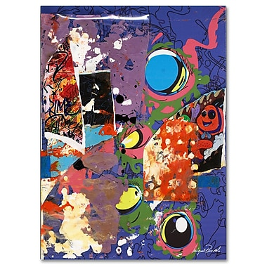 Trademark Fine Art Miguel Paredes 'Urban Collage II' Canvas Art 35x47 Inches