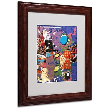 Miguel Paredes 'Urban Collage II' Matted Framed Art - 11x14 Inches - Wood Frame