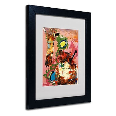 Trademark Fine Art Miguel Paredes 'Urban Collage III' Matted Art Black Frame 11x14 Inches