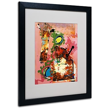 Trademark Fine Art Miguel Paredes 'Urban Collage III' Matted Art Black Frame 16x20 Inches