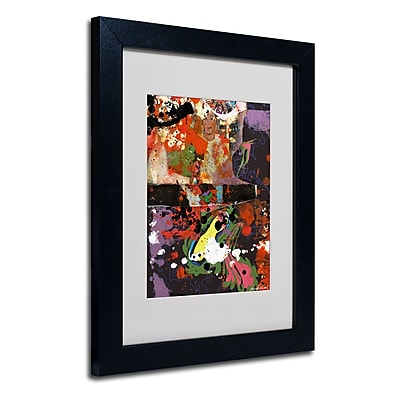 Trademark Fine Art Miguel Paredes 'Urban Collage IV' Matted Art Black Frame 11x14 Inches