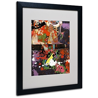 Trademark Fine Art Miguel Paredes 'Urban Collage IV' Matted Art Black Frame 16x20 Inches
