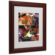 Miguel Paredes 'Urban Collage IV' Matted Framed Art - 11x14 Inches - Wood Frame