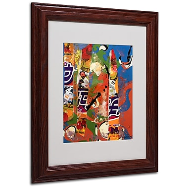 Miguel Paredes 'Japanese I' Matted Framed Art - 11x14 Inches - Wood Frame