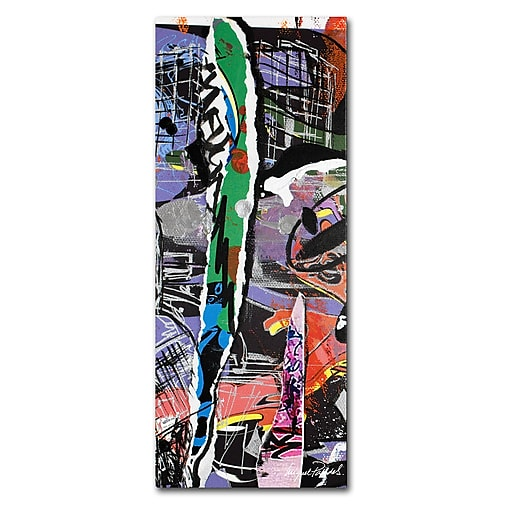 Trademark Fine Art Miguel Paredes 'Abstract' Canvas Art 14x32 Inches