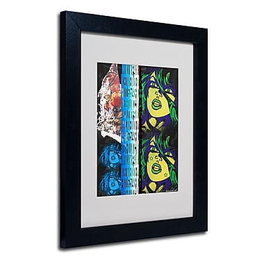 Trademark Fine Art Miguel Paredes 'Crime in Black' Matted Art Black Frame 11x14 Inches
