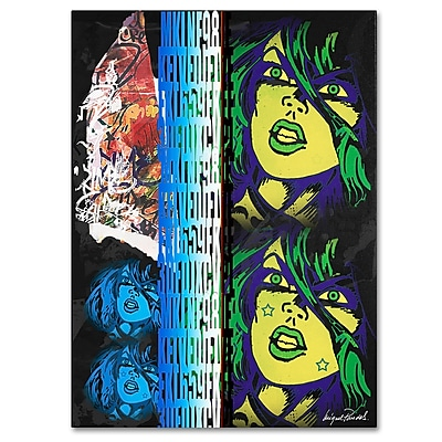 Trademark Fine Art Miguel Paredes 'Crime in Black' Canvas Art 35x47 Inches