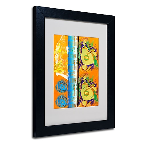Trademark Fine Art Miguel Paredes 'Crime in Orange' Matted Art Black Frame 11x14 Inches