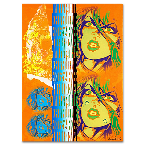 Trademark Fine Art Miguel Paredes 'Crime in Orange' Canvas Art 26x32 Inches