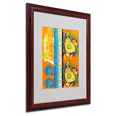 Miguel Paredes 'Crime in Orange' Matted Framed Art - 16x20 Inches - Wood Frame
