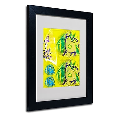 Trademark Fine Art Miguel Paredes 'Crime in Yellow' Matted Art Black Frame 11x14 Inches