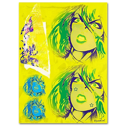 Trademark Fine Art Miguel Paredes 'Crime in Yellow' Canvas Art 14x19 Inches