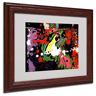 Miguel Paredes 'Fisheye' Matted Framed Art - 11x14 Inches - Wood Frame