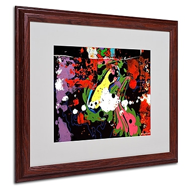 Miguel Paredes 'Fisheye' Matted Framed Art - 16x20 Inches - Wood Frame